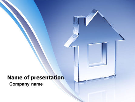 Crystal Home PowerPoint Template, 05505, Construction — PoweredTemplate.com
