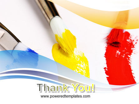 Paint Brushes PowerPoint Template Slide 20