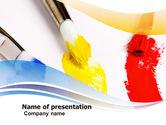 Abstract/Textures: Verf Kwasten PowerPoint Template #05506
