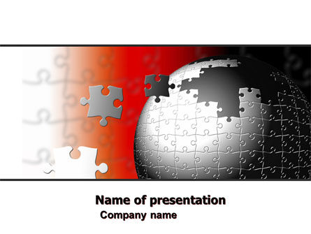 Business Concepts: World Fragments PowerPoint Template #05507