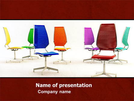 Business Concepts: Chairs PowerPoint Template #05508