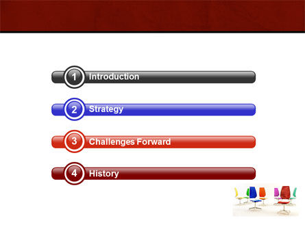 Chairs PowerPoint Template, Slide 3, 05508, Business Concepts — PoweredTemplate.com