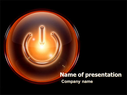 Technology and Science: Power Button PowerPoint Template #05509