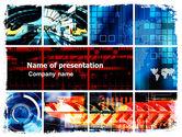 Technology and Science: Modèle PowerPoint de collage technologique #05510