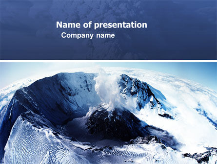volcanic crater powerpoint template, backgrounds, Powerpoint