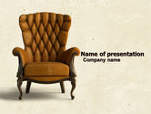 Careers/Industry: Armchair PowerPoint Template #05513