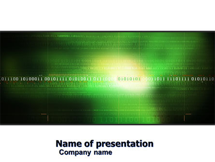 Technology and Science: Information Galaxy PowerPoint Template #05514