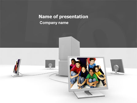 Social Web PowerPoint Template, 05518, Education & Training — PoweredTemplate.com