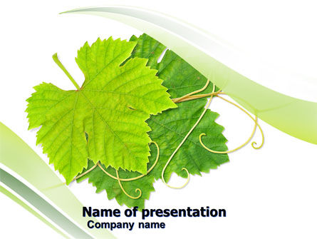 Vine PowerPoint Template, 05519, Agriculture — PoweredTemplate.com