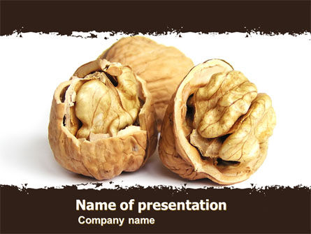 Food & Beverage: Walnut PowerPoint Template #05520