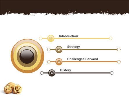 Walnut PowerPoint Template, Slide 3, 05520, Food & Beverage — PoweredTemplate.com
