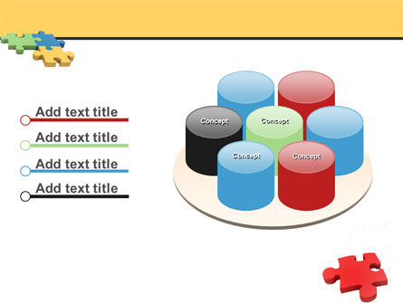 Red Jigsaw PowerPoint Template Slide 12