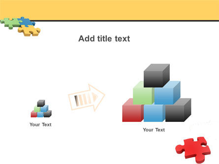 Red Jigsaw PowerPoint Template Slide 13