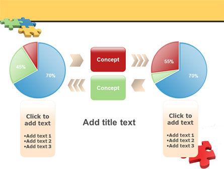 Red Jigsaw PowerPoint Template Slide 16