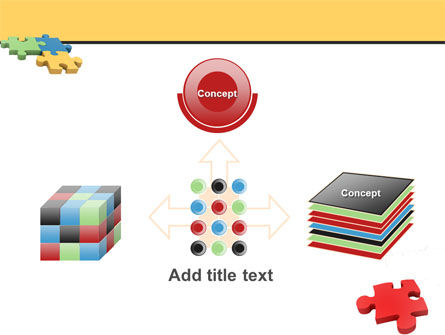 Red Jigsaw PowerPoint Template Slide 19