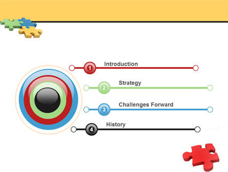 Red Jigsaw PowerPoint Template Slide 3