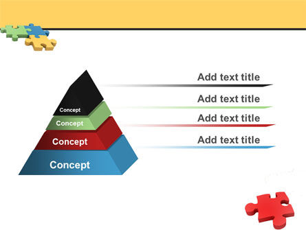 Red Jigsaw PowerPoint Template Slide 4