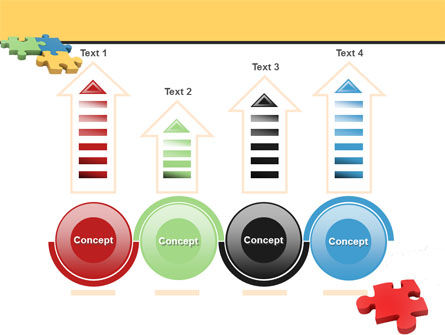 Red Jigsaw PowerPoint Template Slide 7