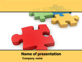 Consulting: Red Jigsaw PowerPoint Template #05521