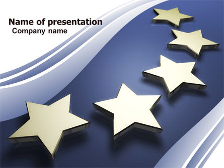 Stars Of European Union Powerpoint Template Backgrounds