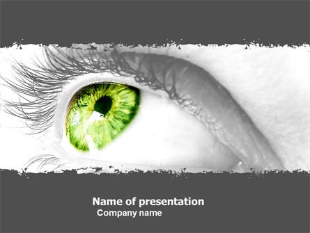 Consulting: Green Eye PowerPoint Template #05524