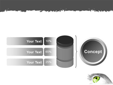 Green Eye PowerPoint Template Slide 11