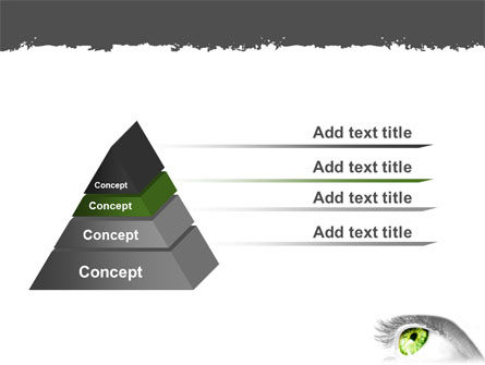 Green Eye PowerPoint Template Slide 12