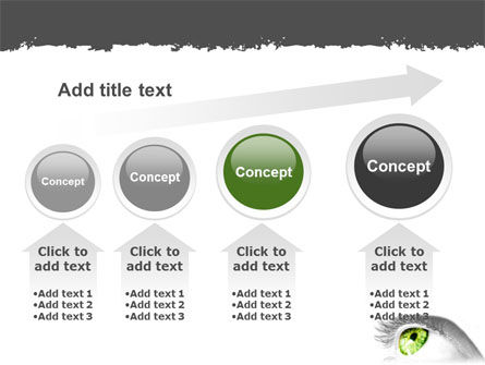 Green Eye PowerPoint Template Slide 13