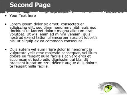 Green Eye PowerPoint Template Slide 2