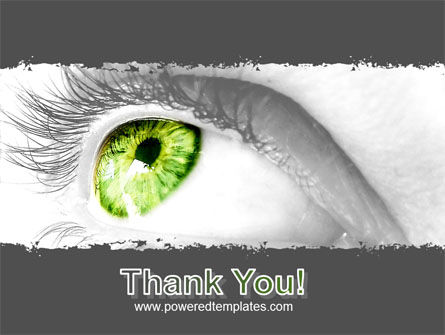Green Eye PowerPoint Template Slide 20