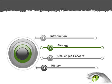 Green Eye PowerPoint Template Slide 3