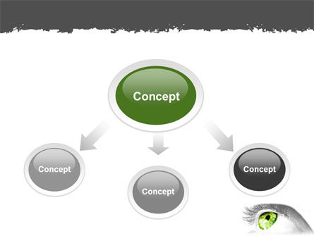 Green Eye PowerPoint Template Slide 4