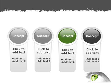 Green Eye PowerPoint Template Slide 5