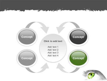Green Eye PowerPoint Template Slide 6