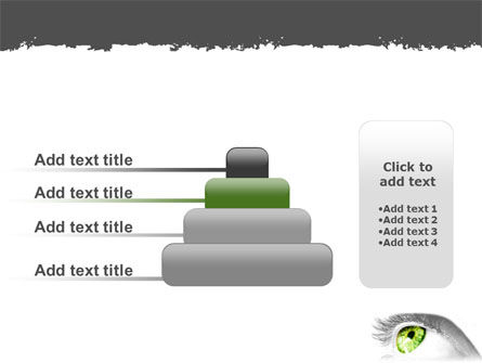 Green Eye PowerPoint Template Slide 8