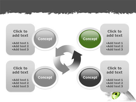 Green Eye PowerPoint Template Slide 9
