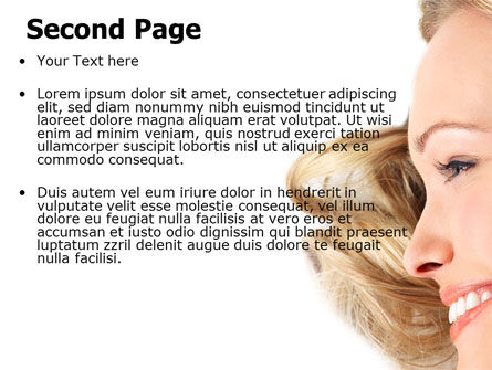 Smiling Girl With Amazing Hair PowerPoint Template Slide 2