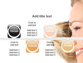 Smiling Girl With Amazing Hair PowerPoint Template#18