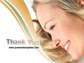 Smiling Girl With Amazing Hair PowerPoint Template#20