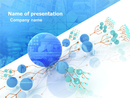 Technology and Science: Developed Network PowerPoint Template #05526