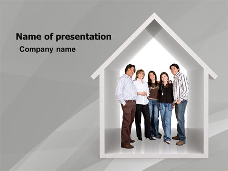 Consulting: House For Family PowerPoint Template #05531