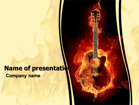 Jazz Guitar PowerPoint Template, 05536, Art & Entertainment — PoweredTemplate.com