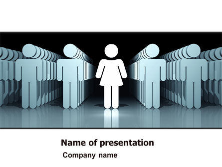 Consulting: Gender Inequality PowerPoint Template #05537