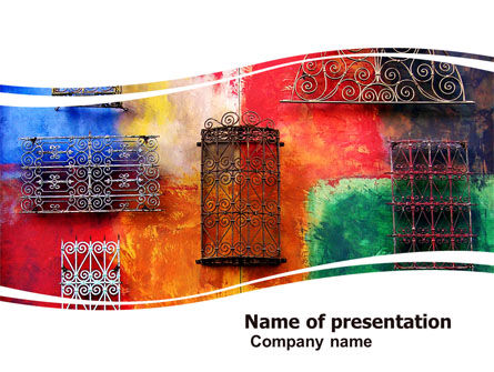 Art & Entertainment: Wall Art PowerPoint Template #05538