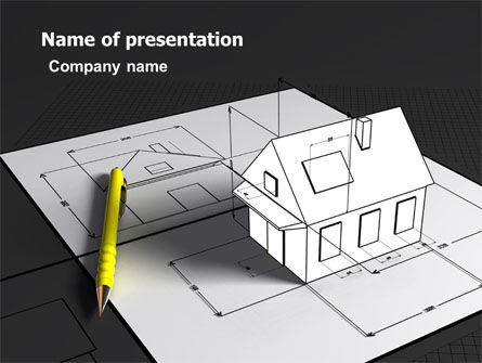 House Draft PowerPoint Template, 05541, Careers/Industry — PoweredTemplate.com