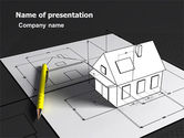 Careers/Industry: House Draft PowerPoint Template #05541