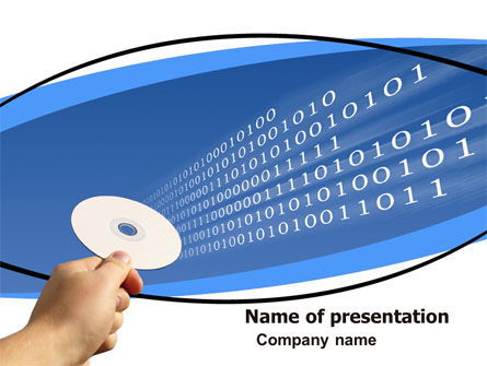Technology and Science: Data CD PowerPoint Template #05542
