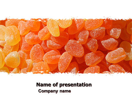 Food & Beverage: Fruit Jelly Free PowerPoint Template #05543