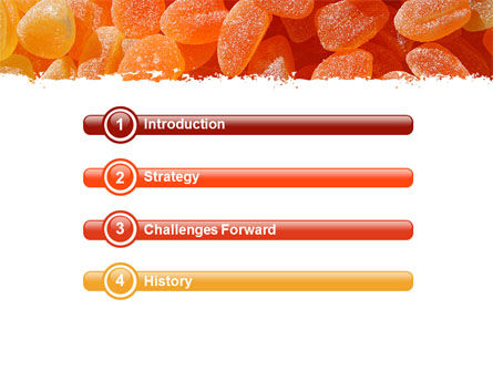 Fruit Jelly Free PowerPoint Template, Slide 3, 05543, Food & Beverage — PoweredTemplate.com