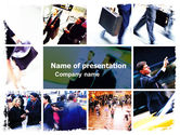 Business: Movement In Business Center PowerPoint Template #05544